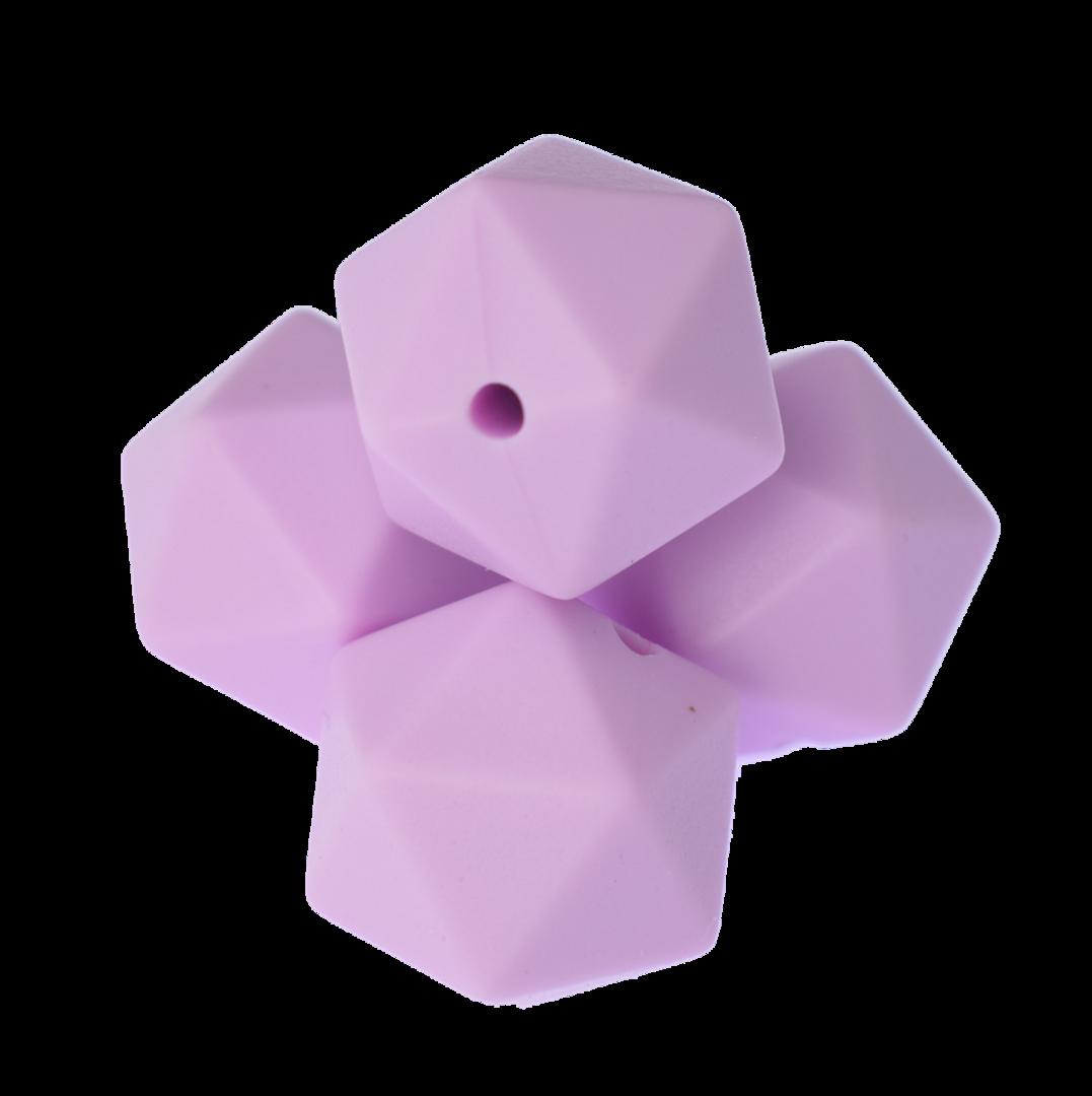 Icosahedron 17mm Sweet Lilac