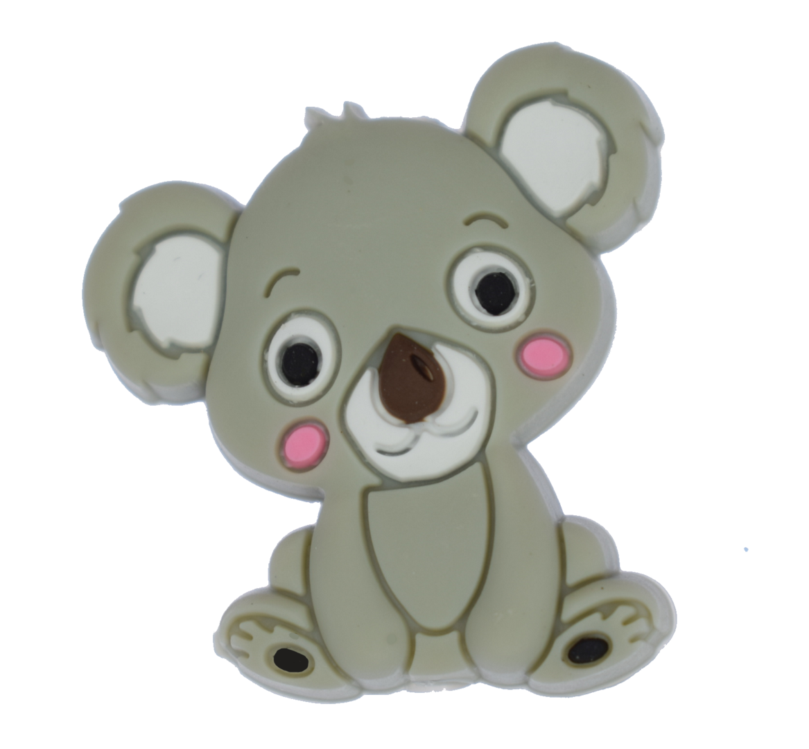 Koala Bead - Light Grey