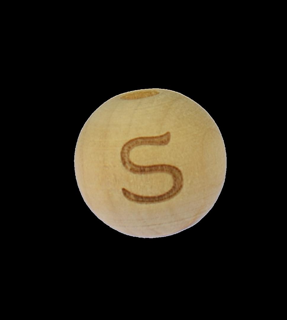 Holzbuchstabe 14mm S