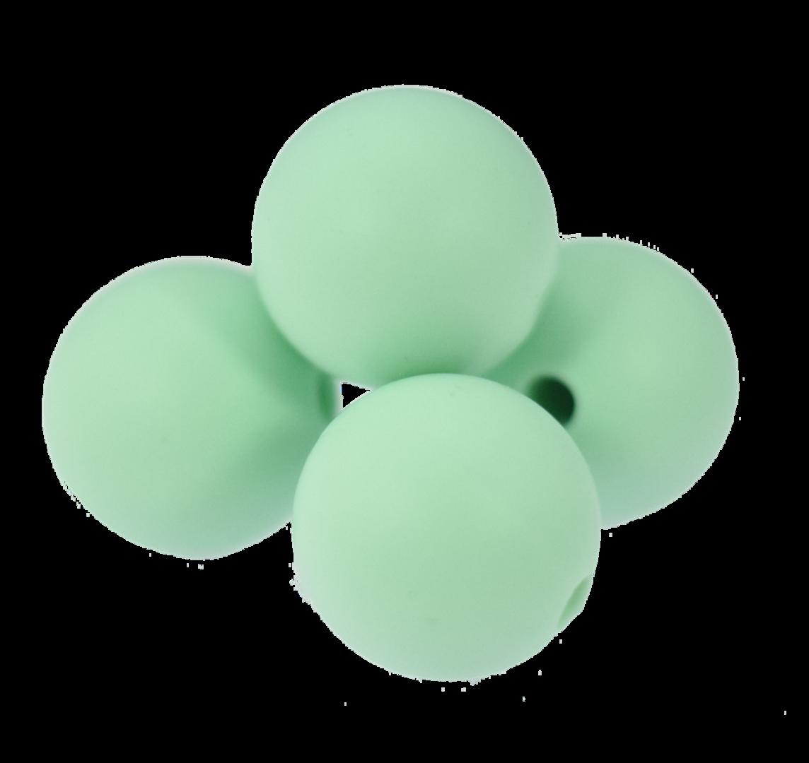Silikonperle 12mm Mint Green