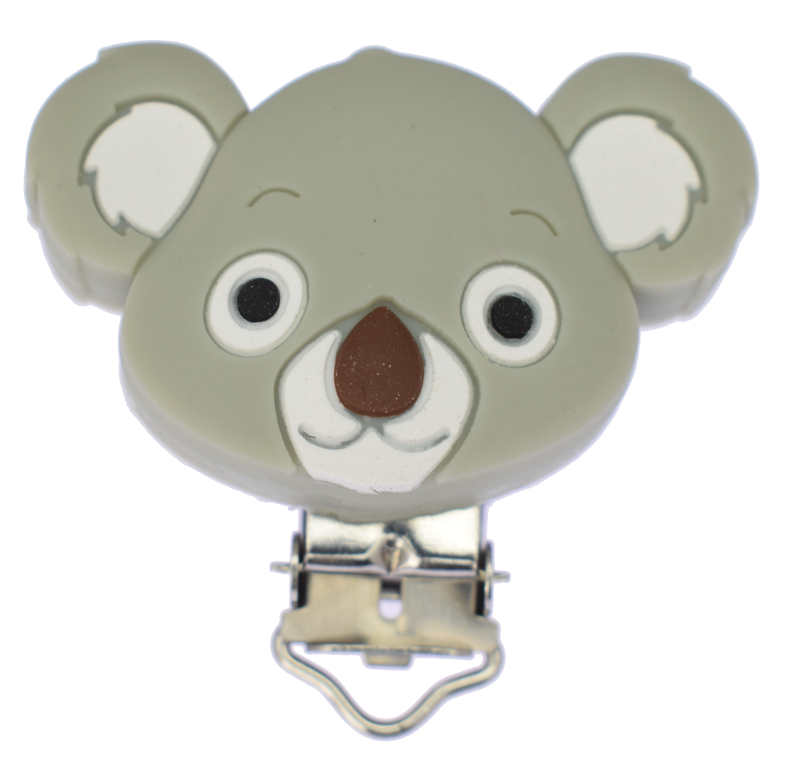 Clip Koala Light Grey