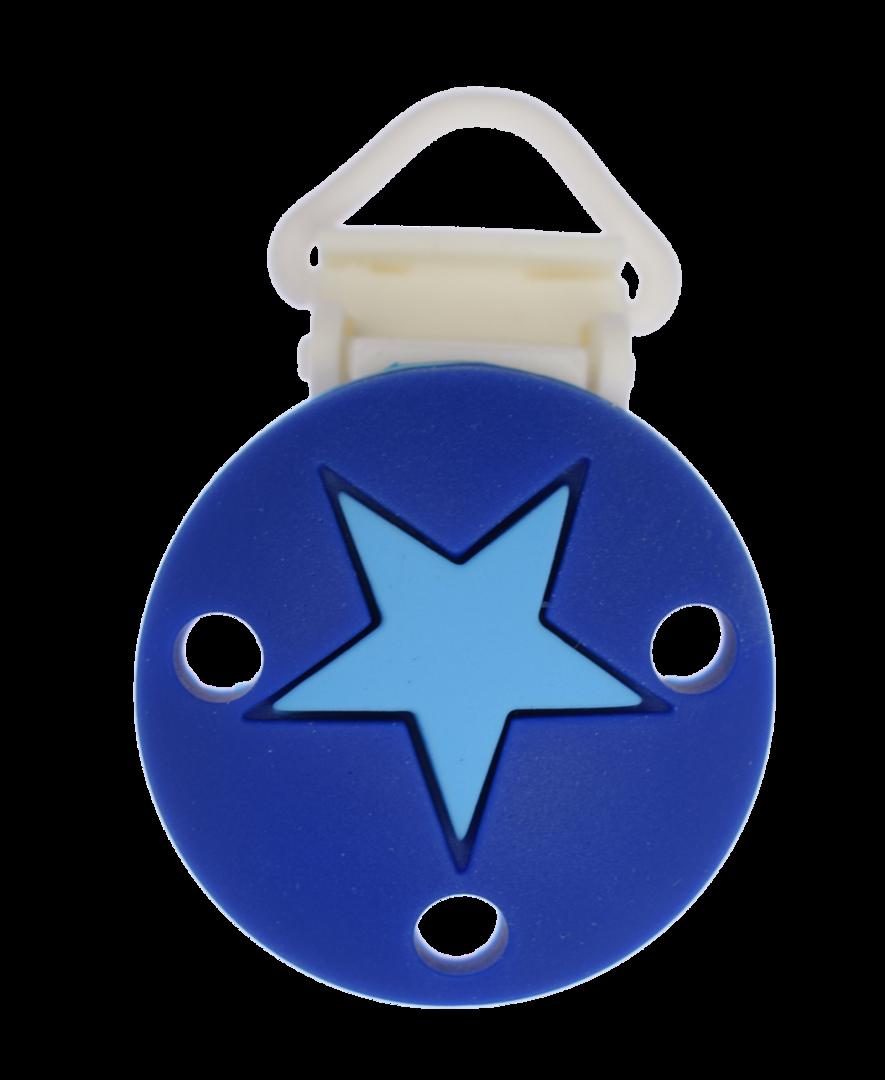 Clip Rund Stern Kunststoffverschluss - Dunkelblau-Deep Sky Blue