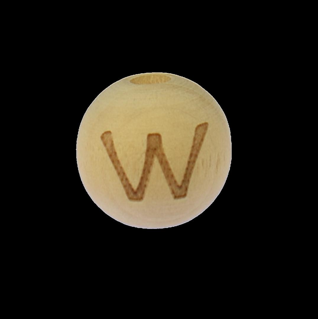 Holzbuchstabe 14mm W