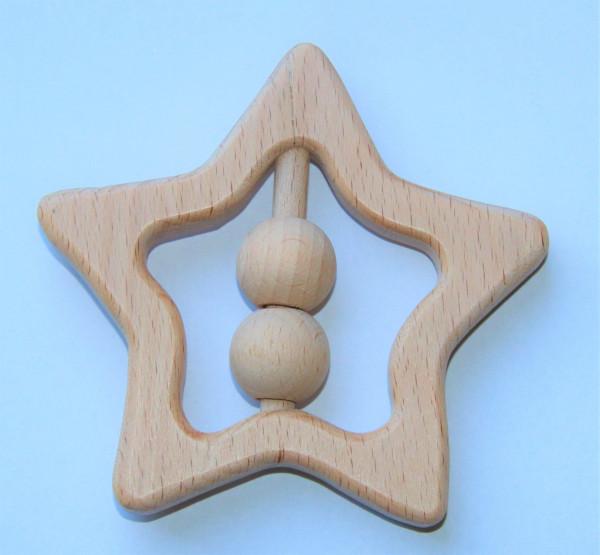 Holz Stern mit Perlen