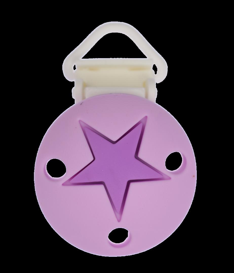 Clip Rund Stern Kunststoffverschluss - Medium Purple - Sweet Lilac