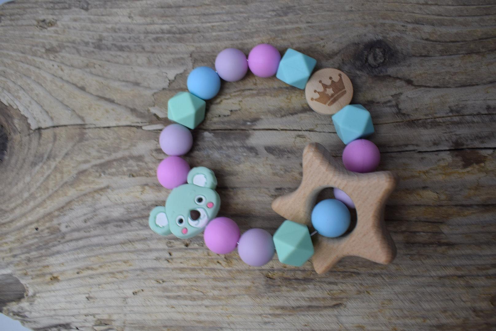 Holz Mäuse-Kopf Perle
