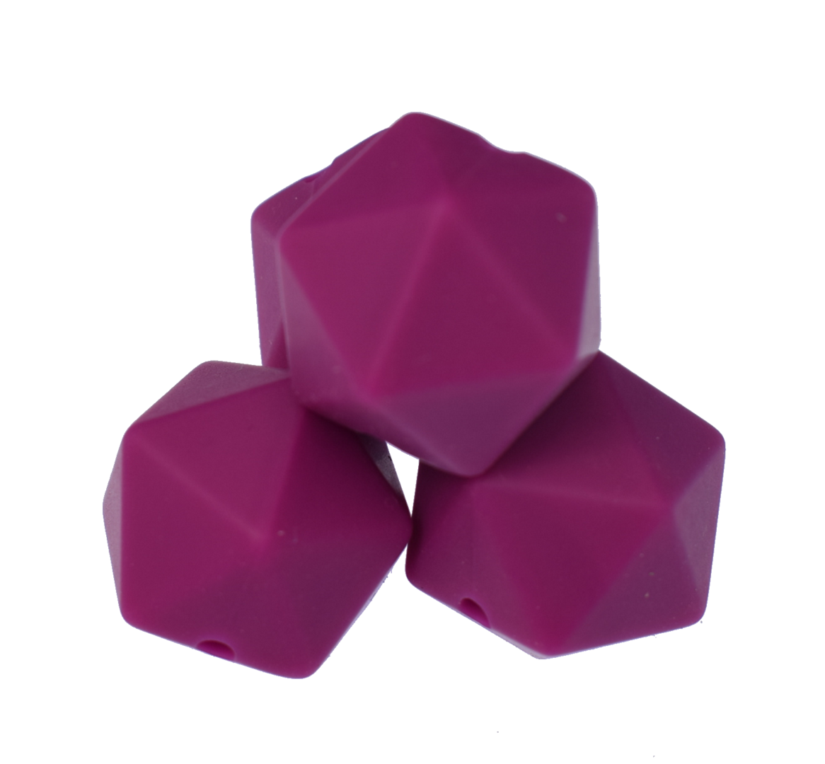 Icosahedron 17mm Bordeaux Violet