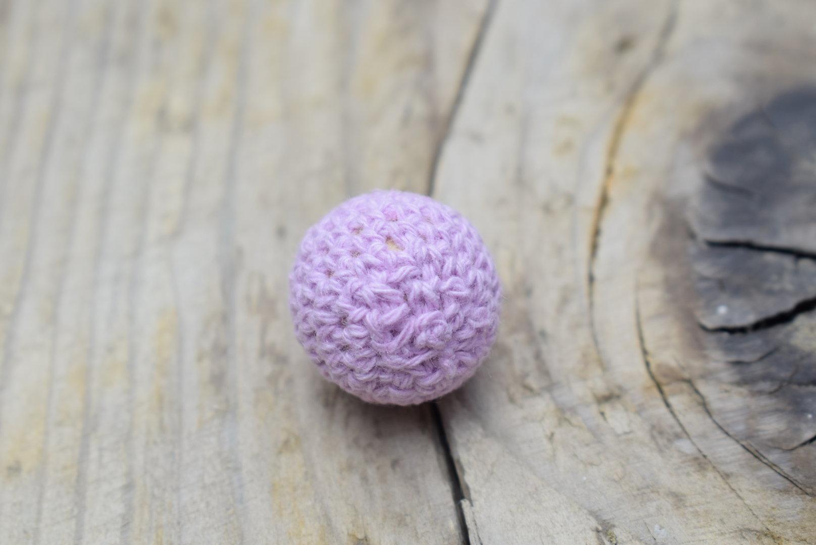 Häkelperle Ø 16mm Sweet Lilac
