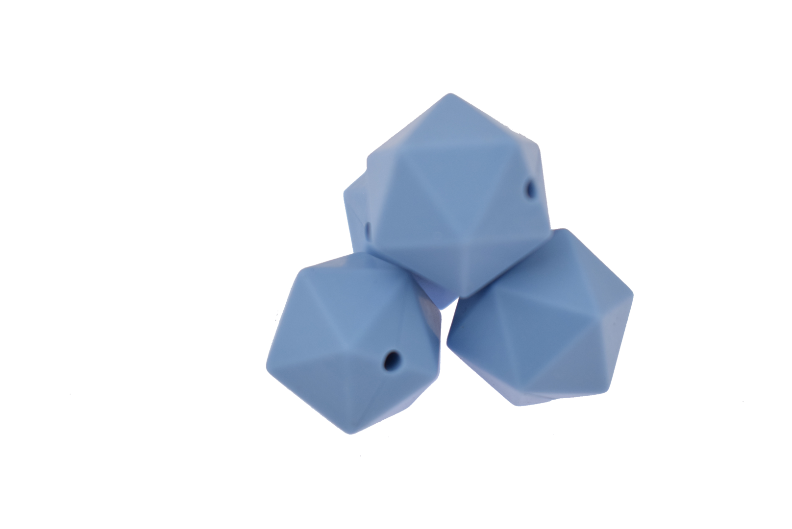 Icosahedron 17mm Powder Blue