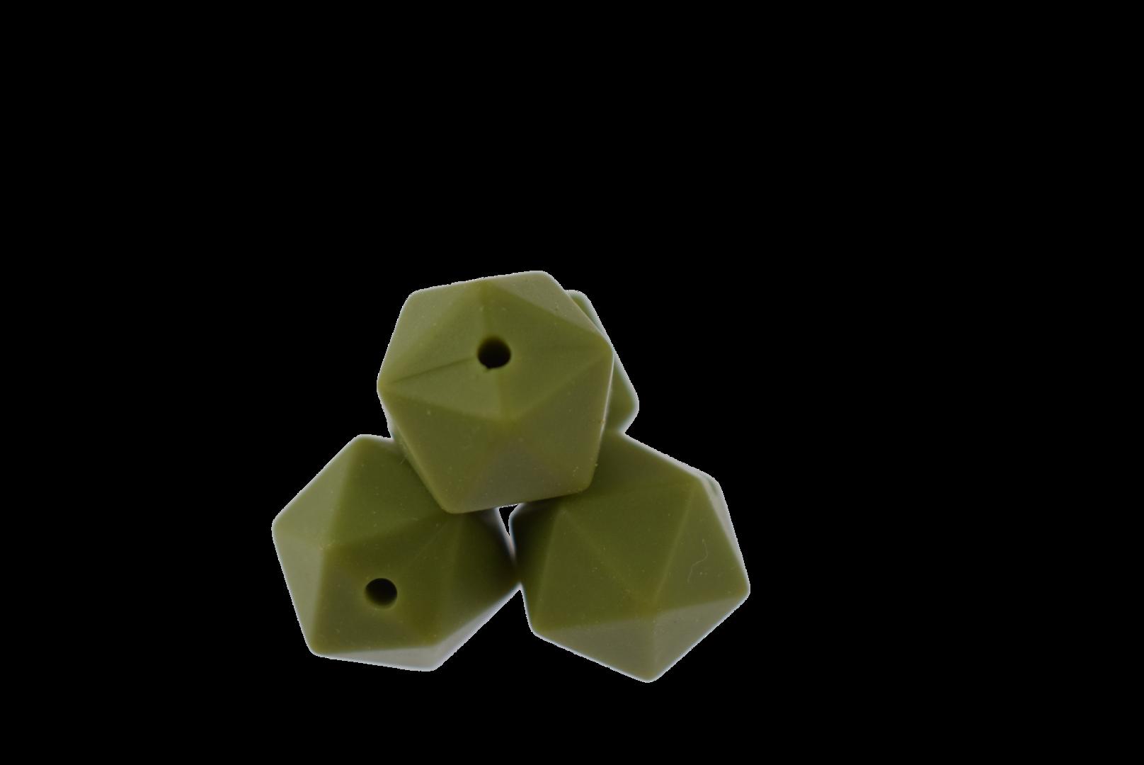 Icosahedron 14mm Army Green