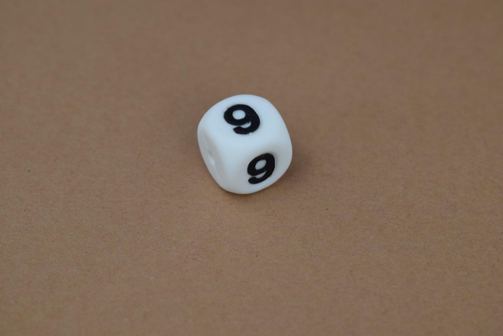 Silikon Zahlenperle - 12mm 9