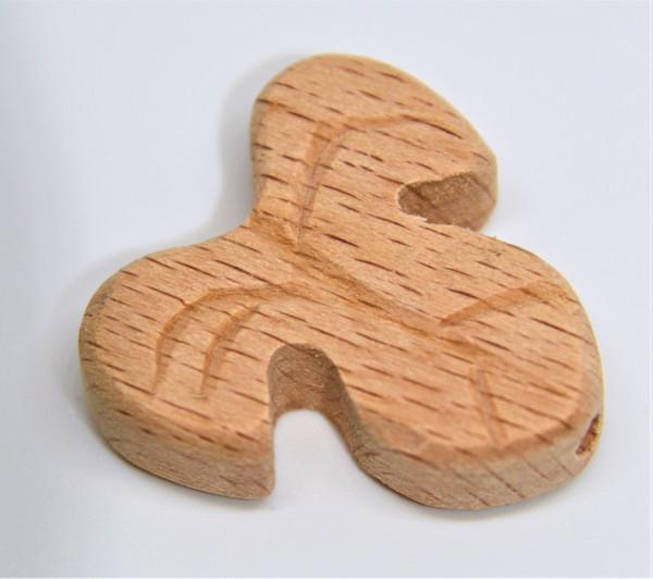 Holz Motivperle Blatt