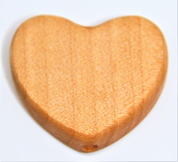 Holz Motivperle Herz Groß