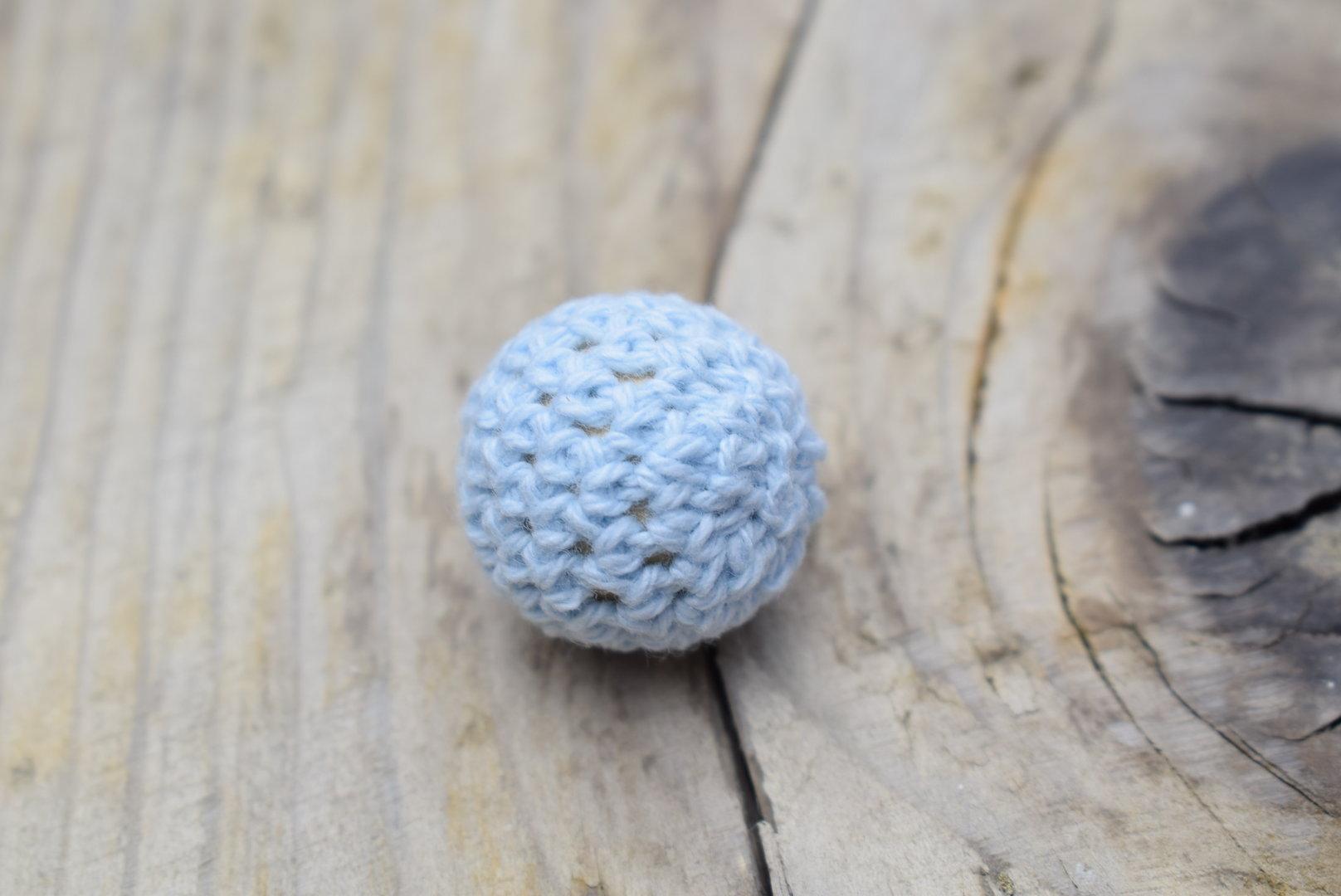 Häkelperle Ø 20mm Pastellblau