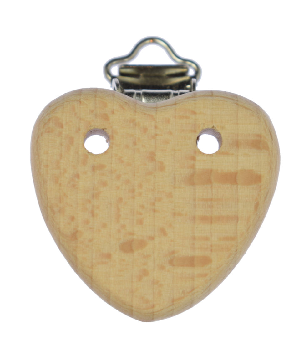 Holz Clip Herz mit Löchern