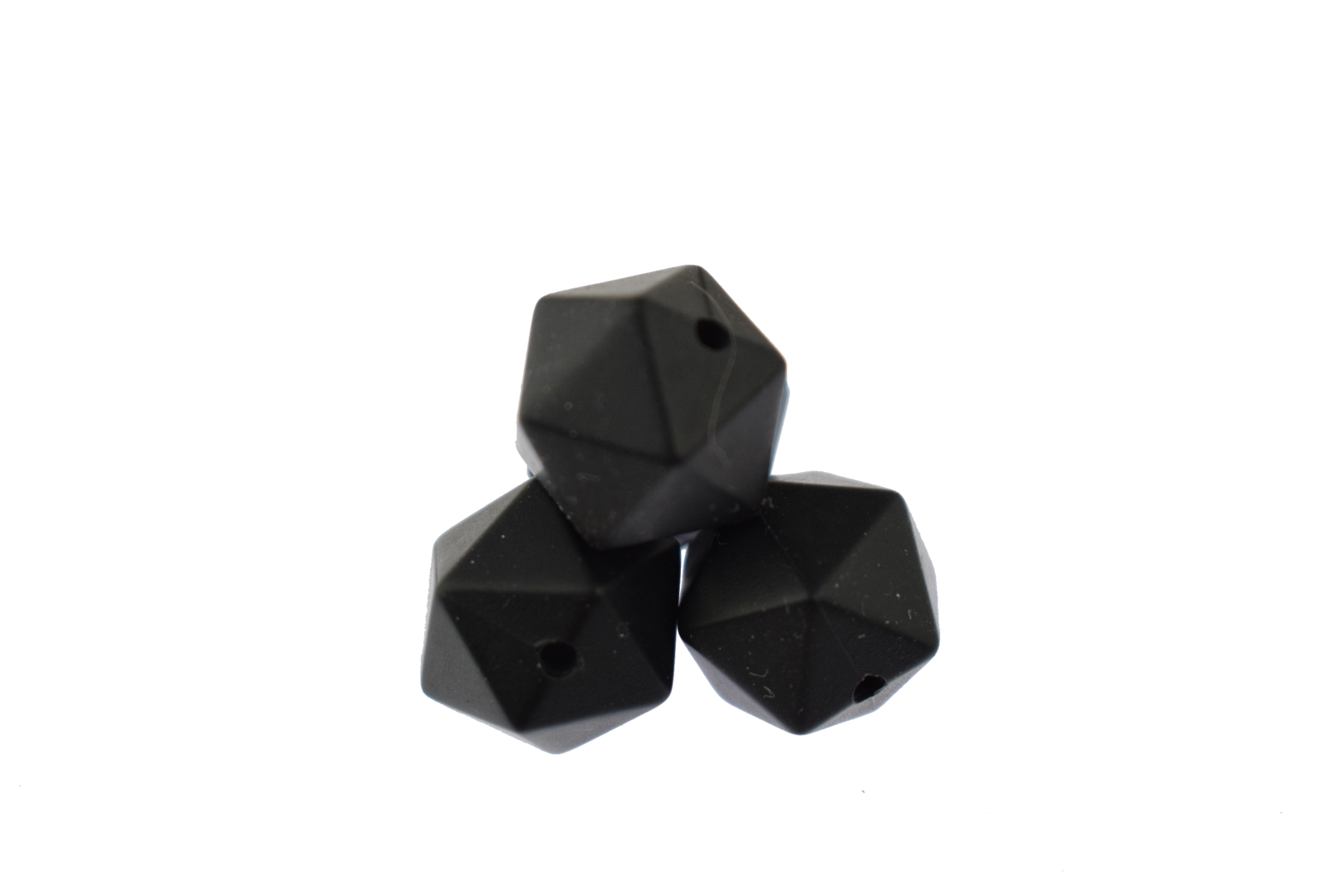 Icosahedron 14mm Smokey Black
