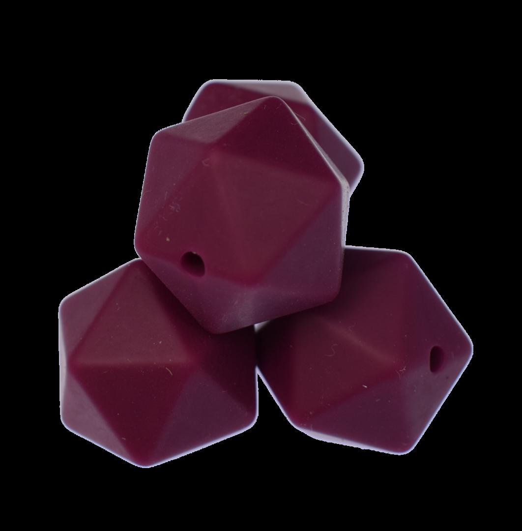Icosahedron 14mm Weinrot