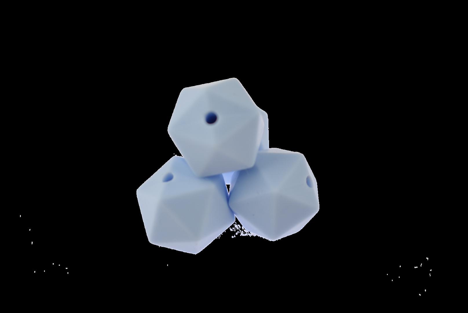 Icosahedron 14mm Pastell Blau