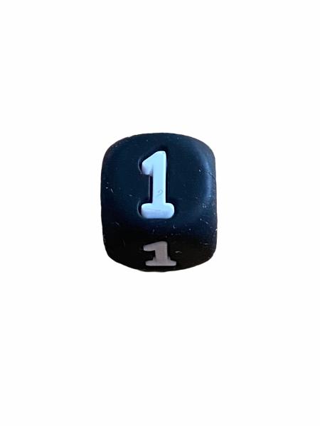 Silikon Zahlenperle - 10mm