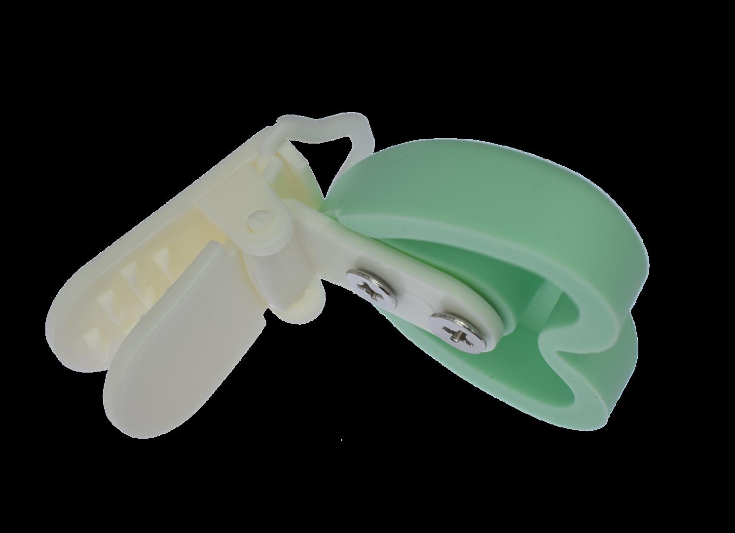 Clip Herz mit Kunststoffverschluss - Mint Green