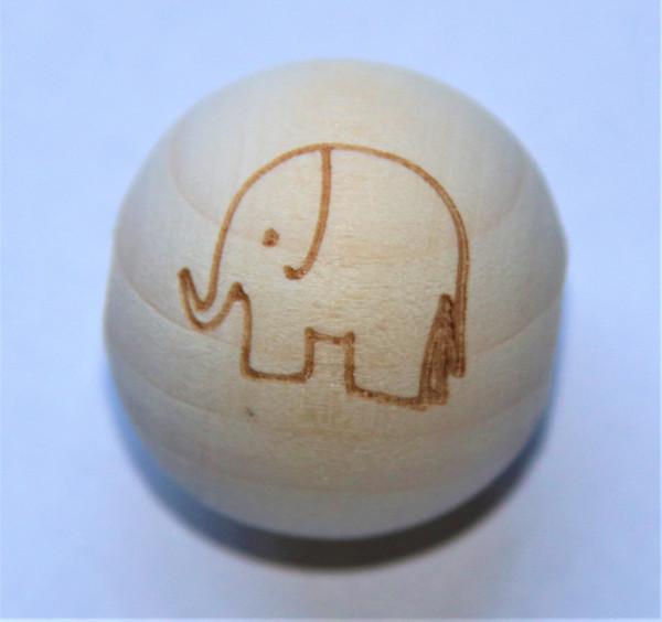 Holz Perle 20mm Elefant