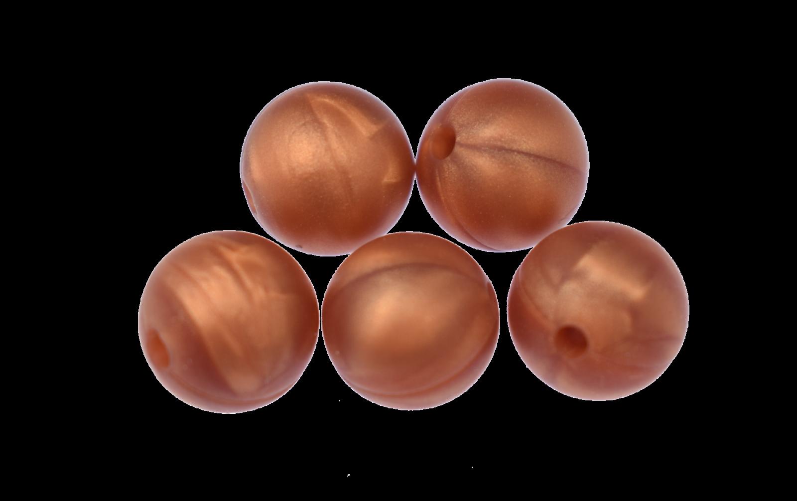 Silikonperle 9mm Bronze