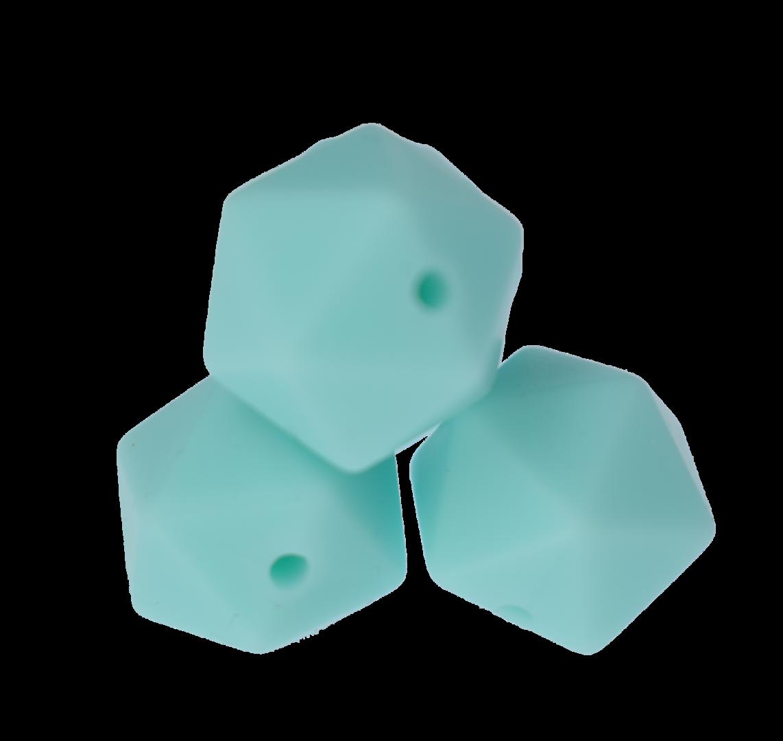 Icosahedron 14mm Blue Green