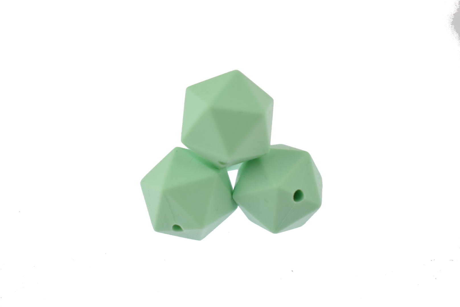 Icosahedron 14mm Mint Green