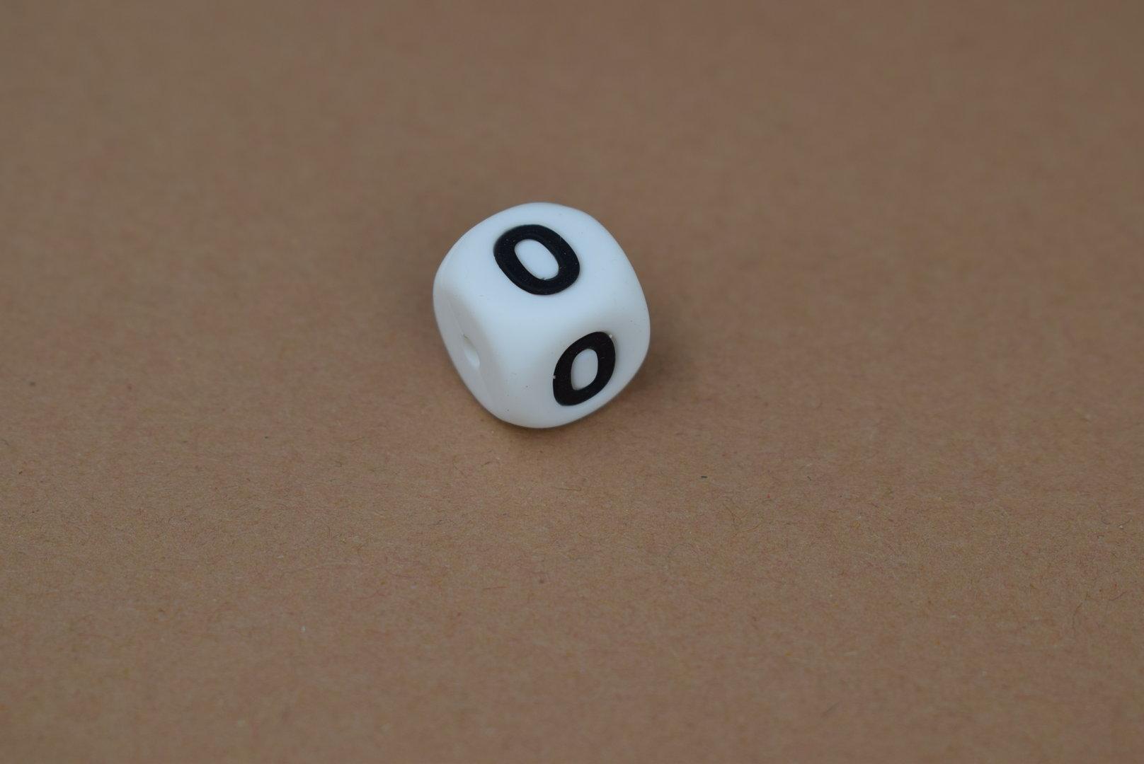Silikon Zahlenperle - 12mm 0