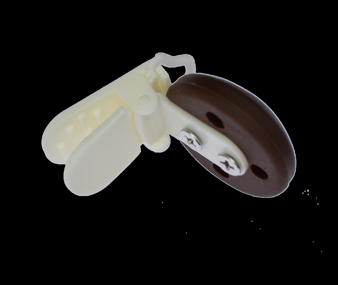 Clip Rund Kunststoffverschluss - Braun