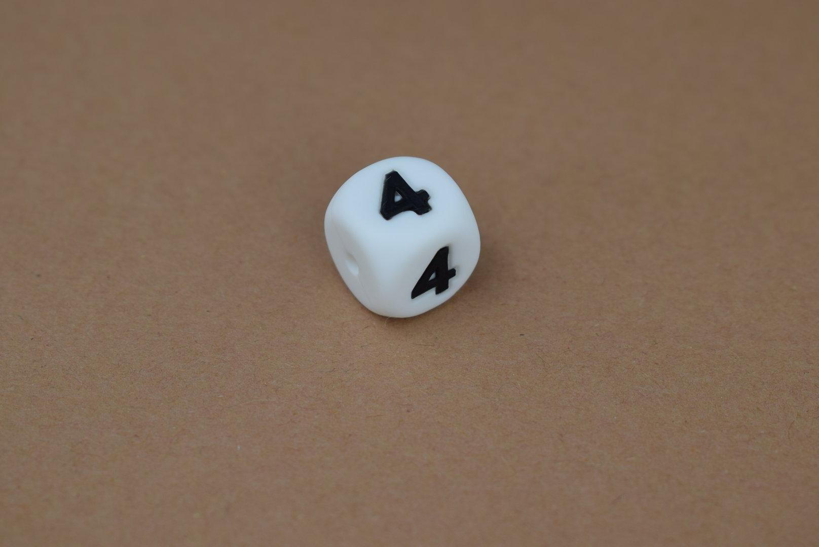 Silikon Zahlenperle - 12mm 4