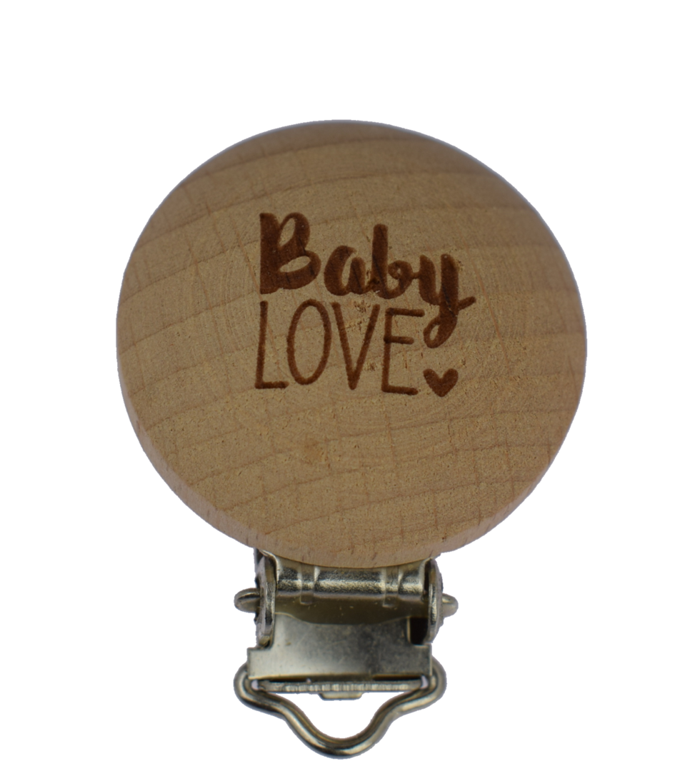 Holz Clip Baby Love