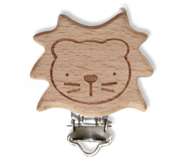 Holz Clip Löwe