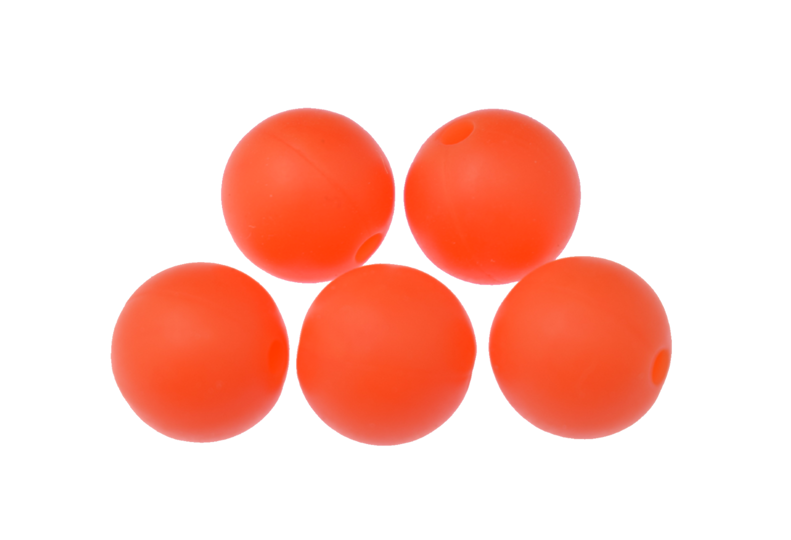 Silikonperle 9mm Orange