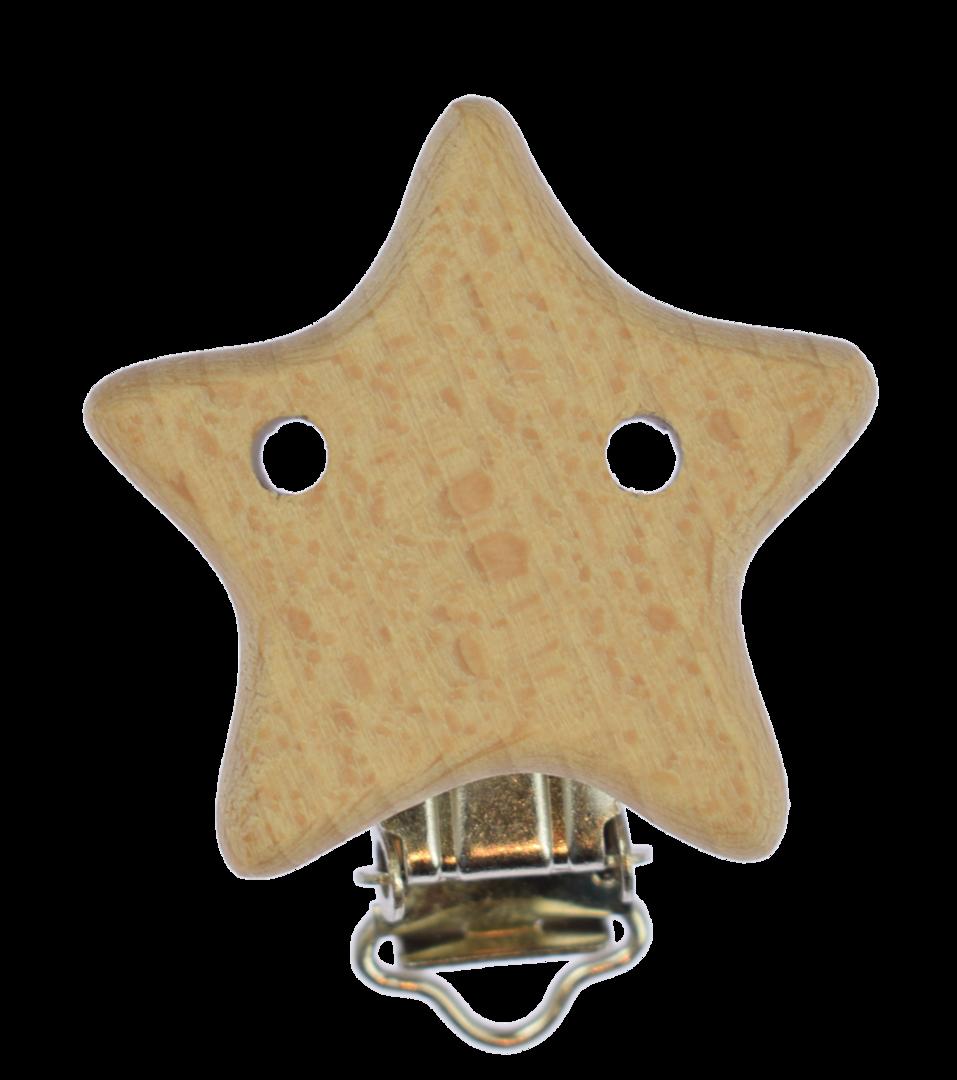 Holz Clip Stern mit Löchern