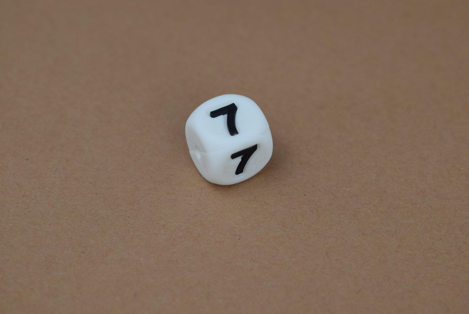 Silikon Zahlenperle - 12mm 7