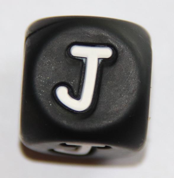 Silikonbuchstaben SCHWARZ 12 mm