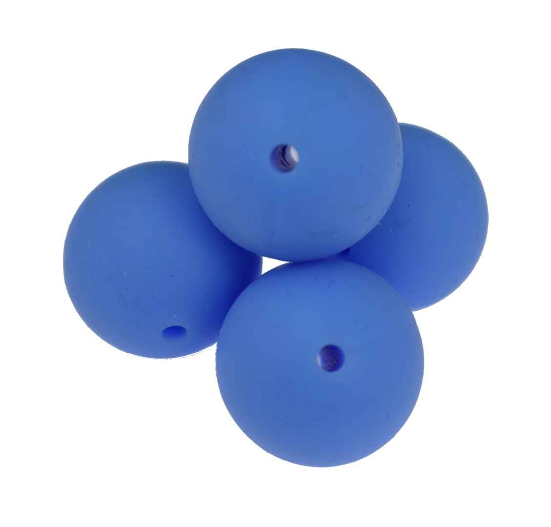Silikonperle 19mm China Blue