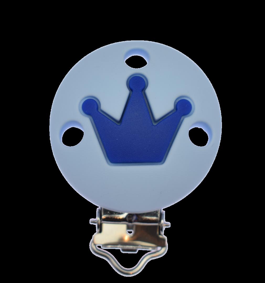 Clip Rund Krone - Pastellblau - Dunkelblau