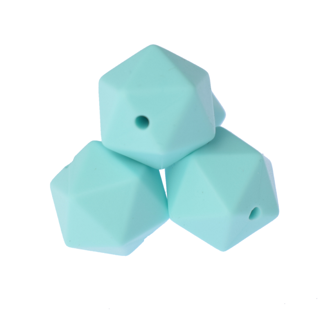 Icosahedron 17mm Light Blue