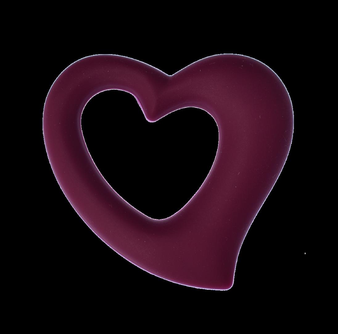 Herz Weinrot