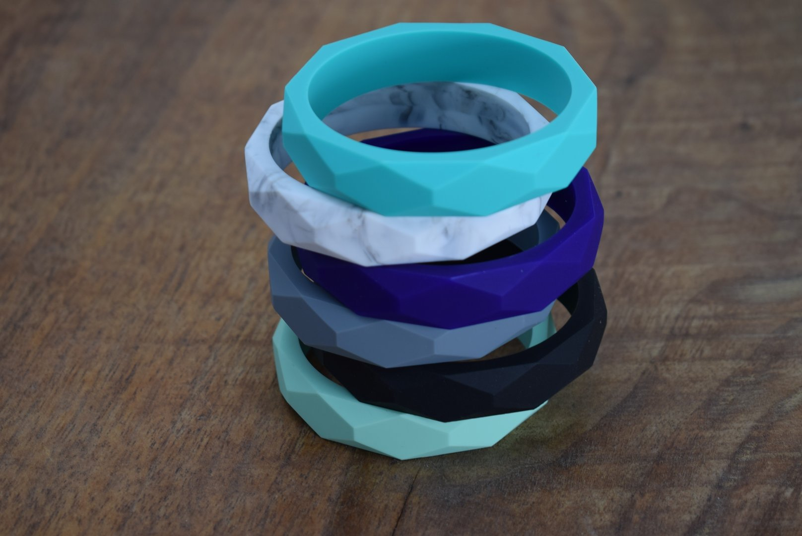 Silikon Armband Marble