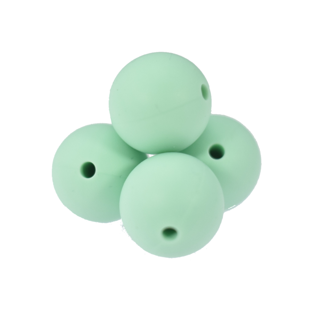 Silikonperle 15mm Mint Green