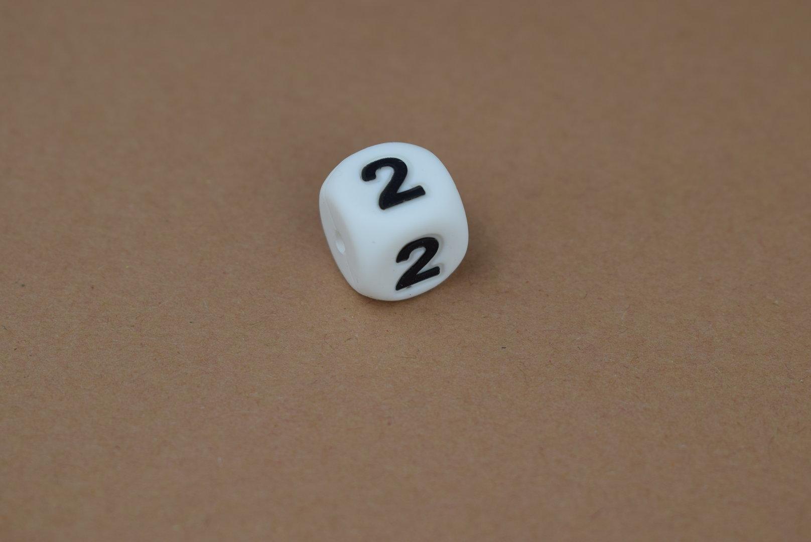Silikon Zahlenperle - 12mm