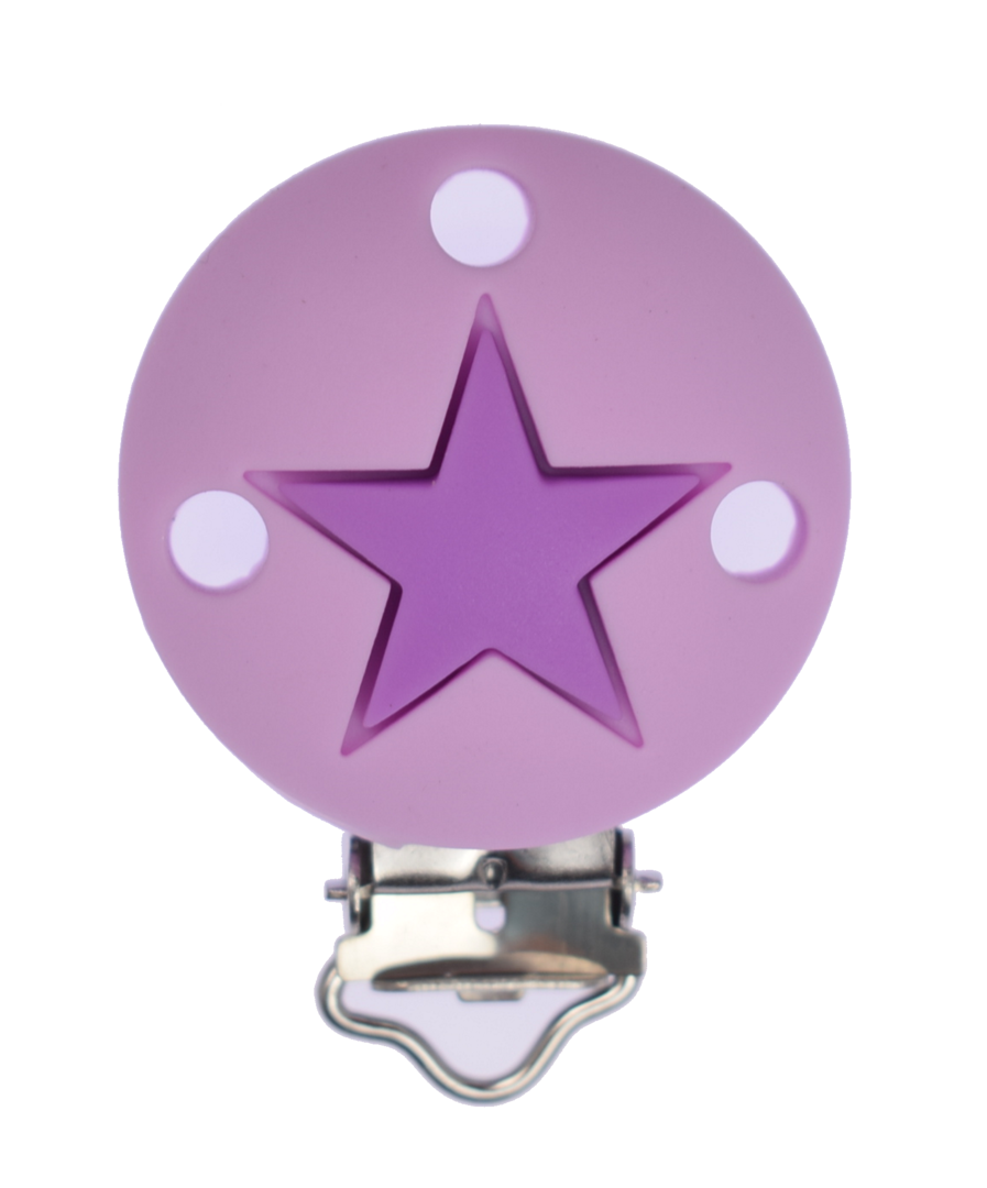 Clip Rund Stern - Sweet Lilac - Medium Purple