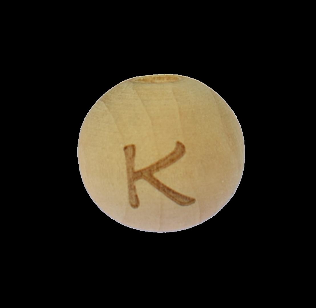 Holzbuchstabe 14mm K
