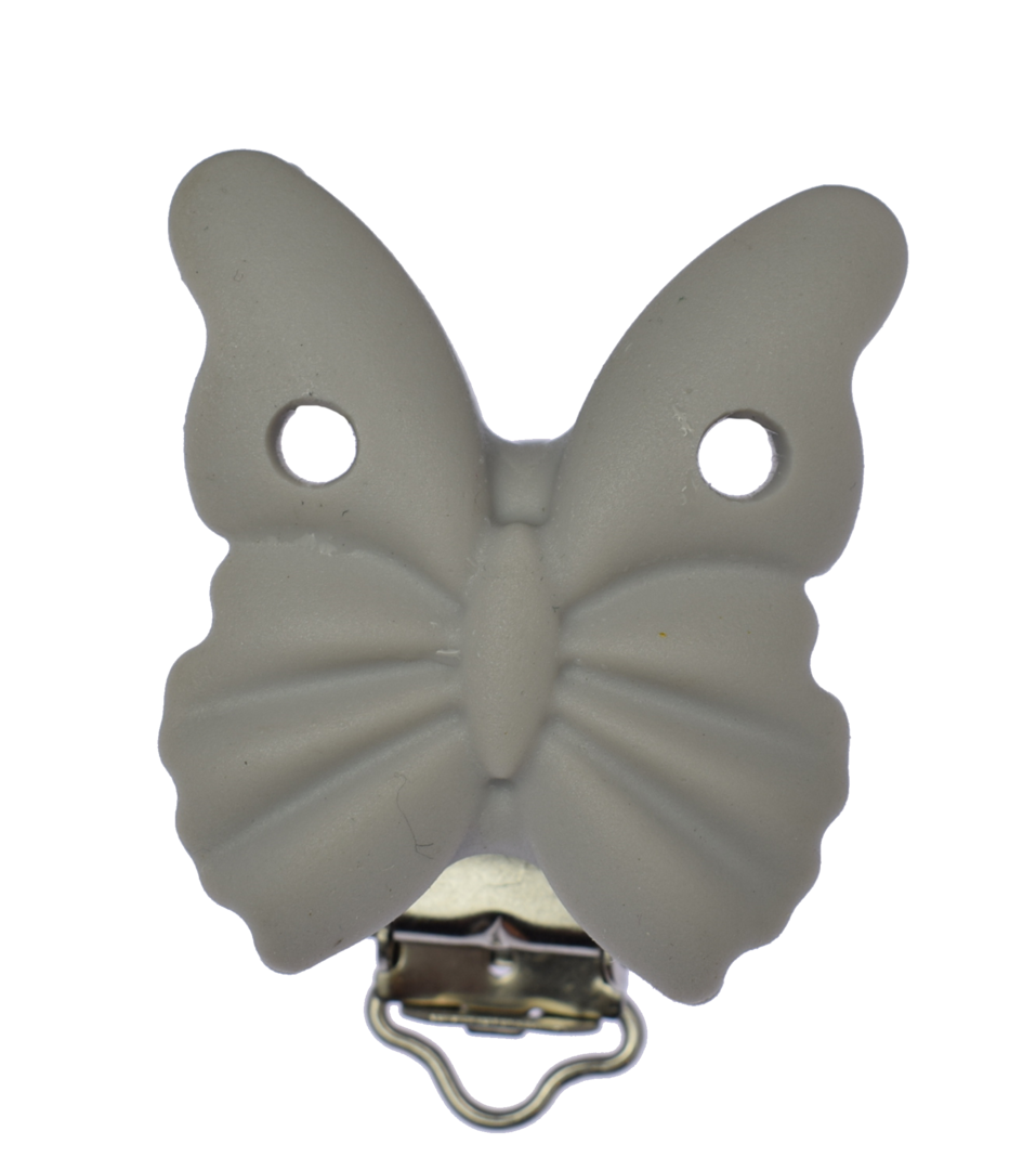 Clip Schmetterling Light Grey