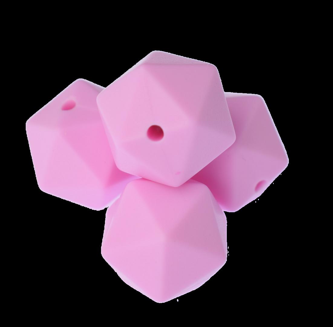 Icosahedron 17mm Pale Pink