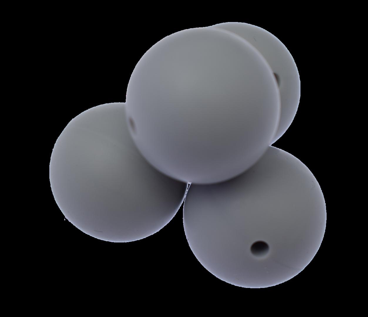 Silikonperle 22mm Light Grey