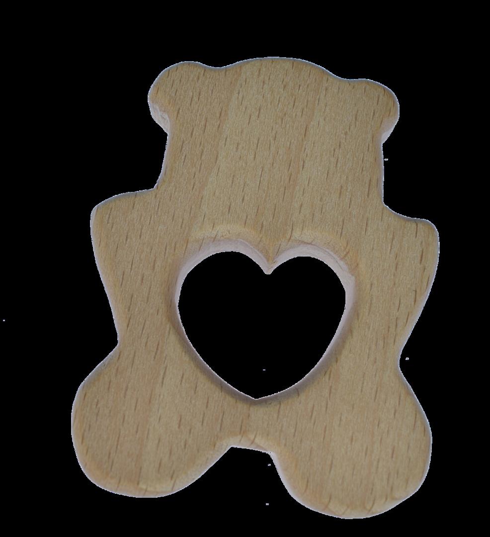 Holz Herz Bär